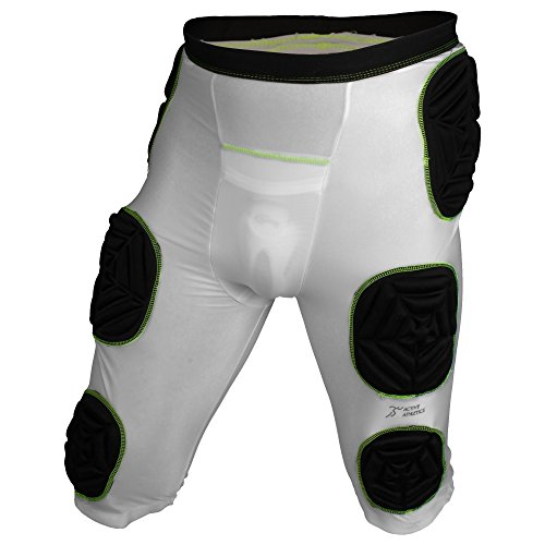 Active Athletics American Football 7 Pad Unterhose, Girdle - Weiß Gr. L