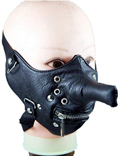 Qiu Ping Herren und Damen New Lang Nase Persönlichkeit Motorrad Reiten Maske