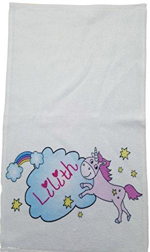 Kinderhandtuch Einhorn mit Wunschname - personalisiertes Einhorn-Handtuch Kilala Gästehandtuch 30 x 50 cm Mädchen