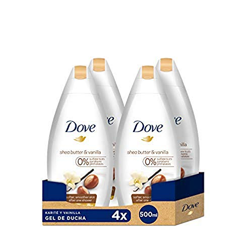 Dove Karite Gel De Ducha Nutritivo  500 ml - [Pack de 4]