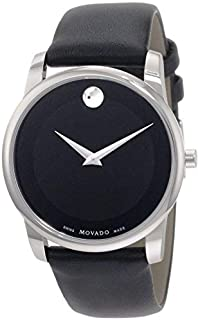 Movado Museum 0606502 SS Case Leather Strap Watch for Men