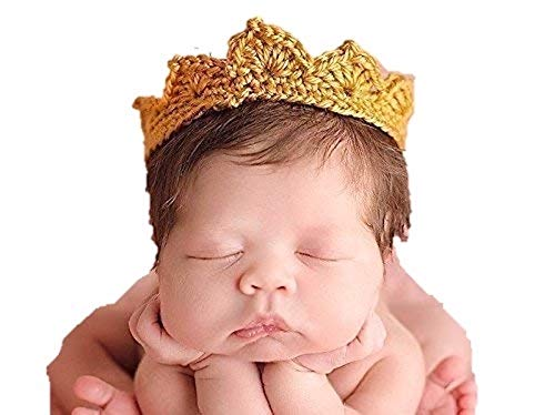 Gender Neutral Photo Prop, Gold Crown, Baby Girl or Boy, All Infant Sizes Premie through Toddler, Gold, Silver and other Colors