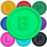 SCHWABMARKEN 100 Gettoni Fiches Chips B, P o L in 14 Colori a Un Prezzo VANTAGGIOSO, Colore Neon-Verde B