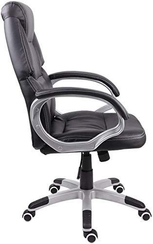 Schommelstoel met schommelfunctie Ergonomische lederen gamingstoel met hoge rugleuning In hoogte verstelbare bureaustoel