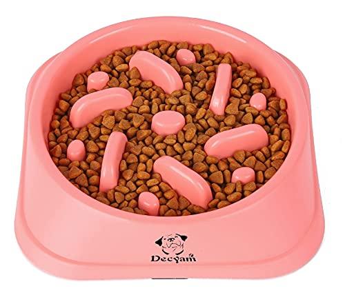 Decyam Ciotola Cani Mangiare Lento, Distributore di Cibo Lento, Ciotola per Animali da Compagnia e Animali Domestici, interattiva, Perfetta Come, Regalo della Mamma