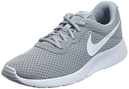 Nike Mens Tanjun Running Sneaker Wolf Grey/White 9