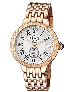 GV2 by Gevril Women's 9102 'Astor' Diamond-Studded Rose Gold Ion-Plated Stainless Steel Watch image