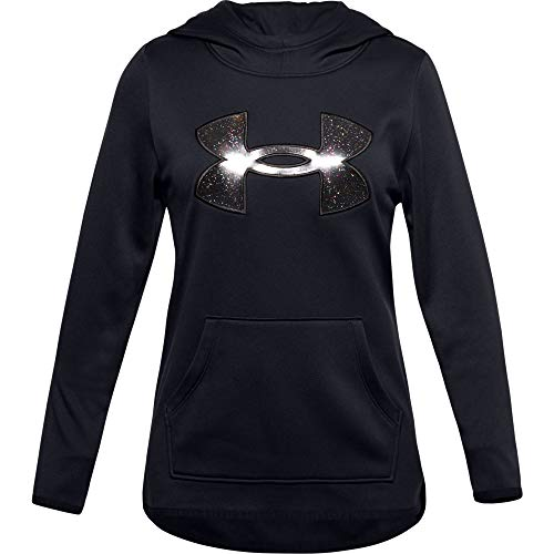 Under Armour Girls' Armour Fleece Graphic Hoodie , Black (001)/Black , Youth X-Small