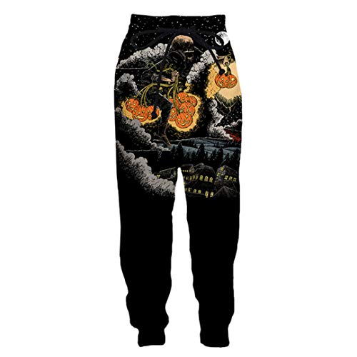 UCKSL Halloween Hombres Mujeres 3D Impreso Hip Pop Street Style Pantalones Largos Fiesta Cosplay Disfraz Moda Jogger Pantalones Deportivos Picture2 Asian Size 4XL