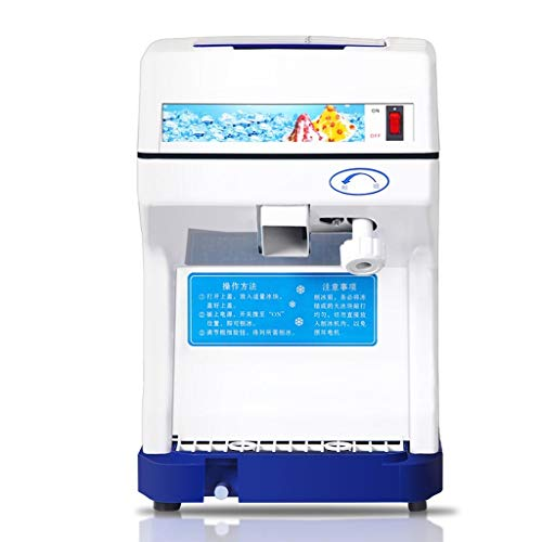 Elektrische commerciële ijsmachine, automatische zand ijsmachine voor thee winkel hotel winkel ijsblokjes instelbare dikte