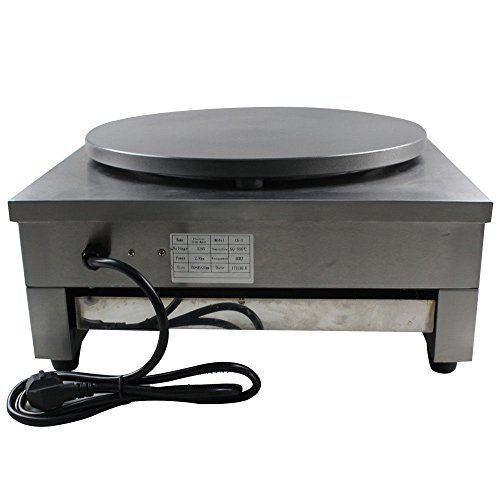 """GDAE10 Crepe Maker Machine Pancake Griddle, 3KW 16"""" Commercial Nonstick Electric Crepe Maker Pancake Machine Kitchen (US Stock)"""