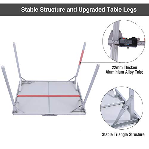REDCAMP Aluminum Folding table