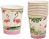CWT Spielzeug Spielzeug 10pcs Tropical Flamingo Papier Einwegbecher-Geburtstags-Party Geschirr-Dekor Spielzeug