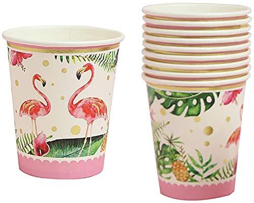 hsj Spielzeug 10pcs Tropical Flamingo Papier Einwegbecher-Geburtstags-Party Geschirr-Dekor Exquisite Verarbeitung