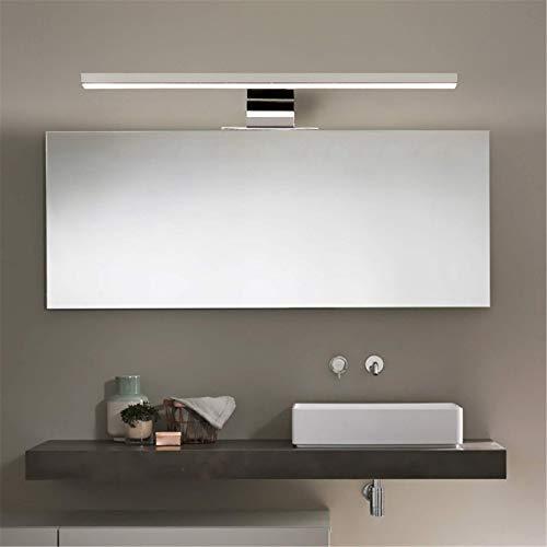 Luz de espejo de baño led nórdica Ip44 11W 60Mm 1000Lm Blanco frío 6000K Lámpara de gabinete Luz de pared de tocador antiniebla Maquillaje Iluminación de belleza Luz de imagen ultra brillante, 50Cm9W