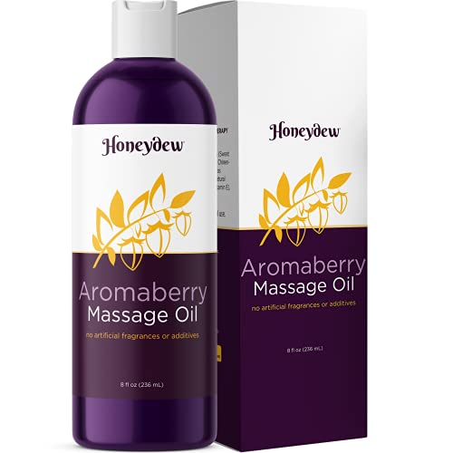 Berry Flavored Massage Oil for Couples - Relaxing and Moisturizing Body Oil for Dry Skin - Anti Aging Dry Skin Care Aromatherapy Oils Enhance Skin and Romance for At Home Spa Sensual Massage