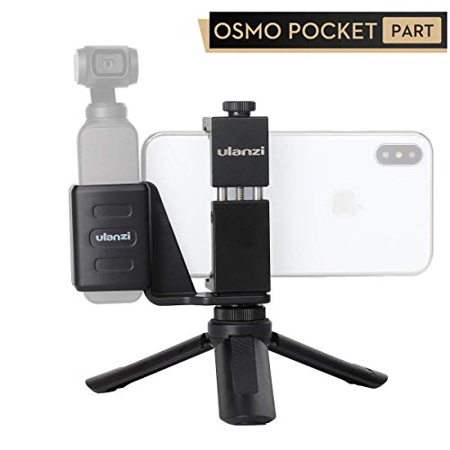 ULANZI Mobile Phone Holder Mount with Mini Table Tripod for DJI Osmo Pocket Vlogging Fixed Stand Bracket Osmo Pocket Camera Accessories