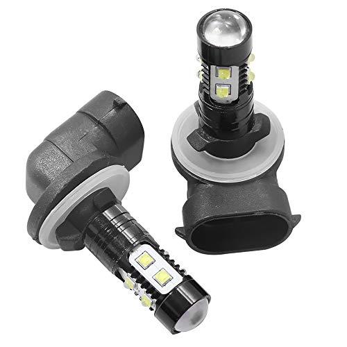 2x White LED Headlight Bulb For Polaris Ranger XP 400 500 700 800 900 1000 Crew