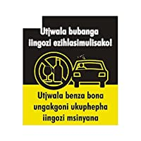 交通安全広告用13cmx11.3cm面白いJDMカーステッカーDIYカスタム印刷