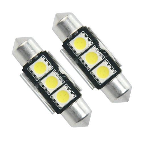 Ampoule A 3 Led 5050 Smd Plaque Lampe Phare Feux éclairage Luminosité Blanc 36mm