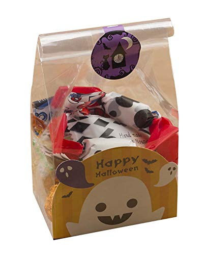 Review Of DRAGON SONIC Pack of 50 Cute Candy Wrappers Cookie Bags for Halloween, G3
