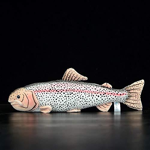 Mmurong Juguetes De Felpa 40 Cm Lifelike Trucha Arco Iris Relleno Juguetes De Mar Suave Pescado De Felpa Juguete De La Trucha De La Piel Muñecas para Los Niños