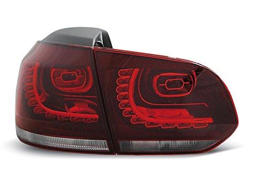 1 paar achterlichten Golf 6 08-12 rood wit LED (W70)