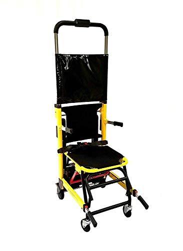 SISHUINIANHUA Silla de Ruedas eléctrica Plegable con riel de Goma Resistente al Desgaste de 82 cm de Largo, escaleras fáciles de Subir, escalones, Silla de evacuación Ligera para escaleras