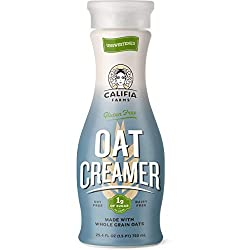 Califia Farms - Unsweetened Oat Milk Creamer, 25.4 Oz, Low Calorie and Zero Sugar, Non Dairy, Gluten