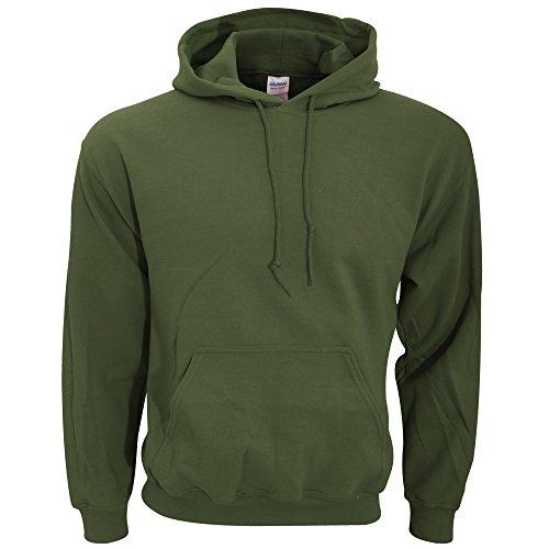 Gildan - Felpa con Cappuccio - Uomo (M) (Verde Militare)