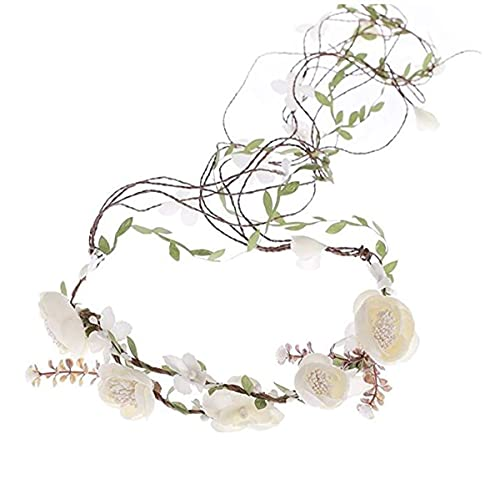 Ever Fairy Berries Flower Crown with Adjustable Vines Tiaras Necklace Belt Party Decoration Wedding Festivals