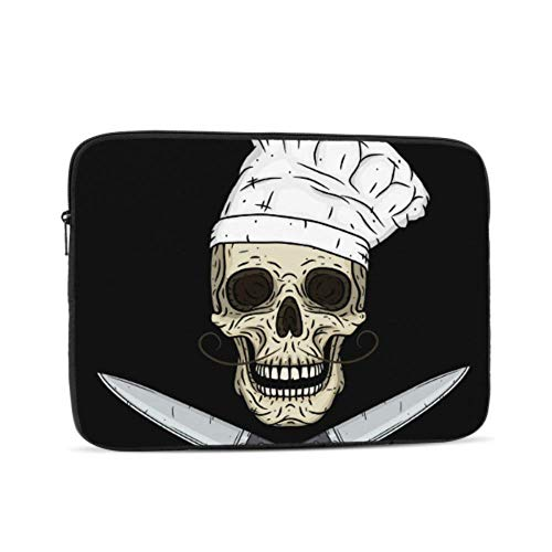 Case for Mac Cartoon Skull Toque Knife MacBook Cases Multi-Color & Size Choices 10/12/13/15/17 Inch Computer Tablet Briefcase Carrying Bag