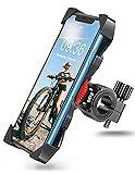 Bovon Soporte Movil Moto, Anti Vibración Soporte Movil Bicicleta Montaña con 360° Rotación para Moto, Universal Manillar Compatible con iPhone 12/12 Pro/12 Mini/11 Pro MAX y 3.5'-6.5' Móvil