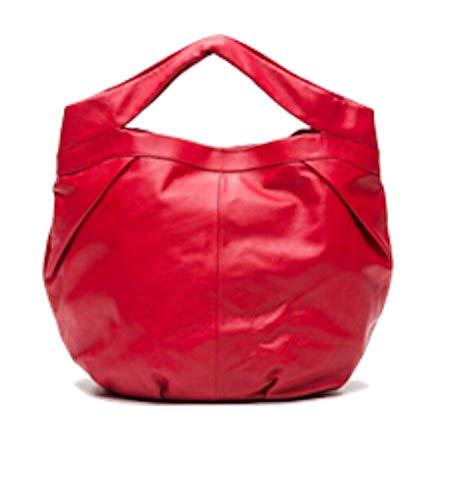 LUPO Bag Lumen Rojo - Bolso de hombro para mujer, piel auténtica, color rojo - Dimensiones (largo x alto x ancho): 45.5 x 33 x 17.5 cm; número de modelo: 1100630-189-013 AW14-15