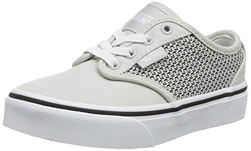 Vans Atwood Slip-on, Zapatillas para Niños, Gris (Mesh/Canvas Gray/White U2o), 38 EU