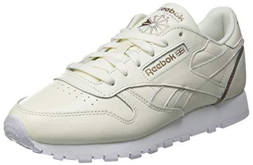Reebok Damen Classic Leather Sneaker, Chalk/Golden Bronze/Footwear White, 38.5 EU