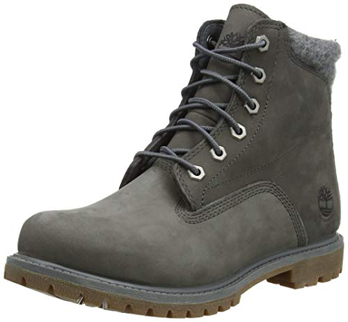 Timberland Damen Waterville 6 Inch Basic Waterproof Stiefel, Grau (Medium Grey Nubuck), 38.5 EU