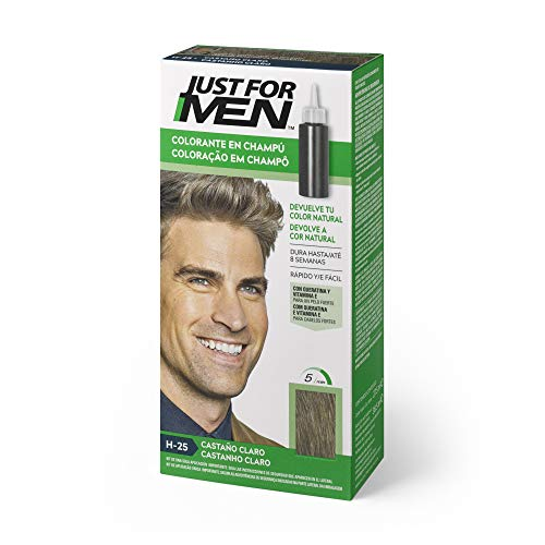 Just For Men Just For Men Tinte Colorante En Champu Para El Cabello Del Hombre. Castaño Claro. H-25
