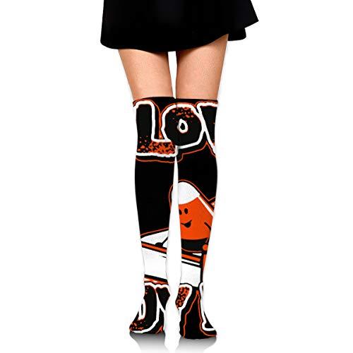 dogdoh Ich liebe Süßigkeiten Porno 3,35 x 23,6 Zoll Socken Sportliche Socken Schweißableitung für Indoor-und Outdoor-Aktivitäten für Mädchen Frauen Teens 38-