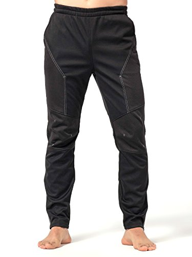 INBIKE Cycling Running Pants Jogger Winter Windproof Long Straight Sweat Pants Black Medium TJ