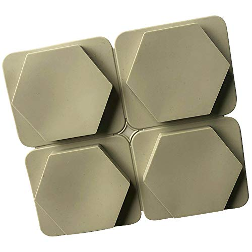 Dawwoti 4 Hexagon siliconen bakvorm 3D-taartjes moulds soap partij DIY chocolade siliconen taartvorm - willekeurige kleur