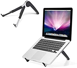 Portable Folding Laptop Holder Stand, with Stretching Legs and Adjusting Angles Computer Notebook