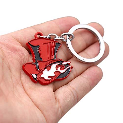 Gankchen Persona 5 Take Your Heart Phantom Thieves Logo Keychain Persona 5 R The RoyalKeychain Keychain Badge Car Key Tag Key Ring Necklace (Keychian)