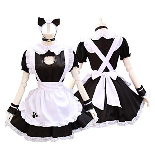 SMchwbc Cosplay Cosplay Maid Costume Anime Lindo Gato Chica Uniforme Lolita Vestido Mujeres Disfraz Disfraz Disfraz de Serpiente (Chocolat Cosplay, Medium)