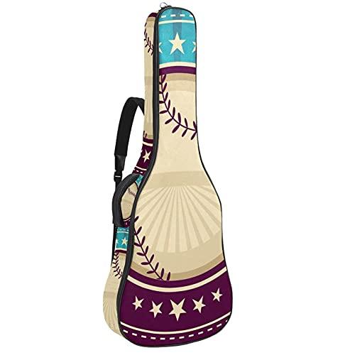 Bolsa para guitarra de béisbol, color azul y morado con asa de...