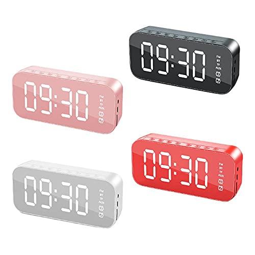 Multi-función Bluetooth altavoz despertador espejo teléfono móvil subwoofer altavoz hogar escritorio espejo