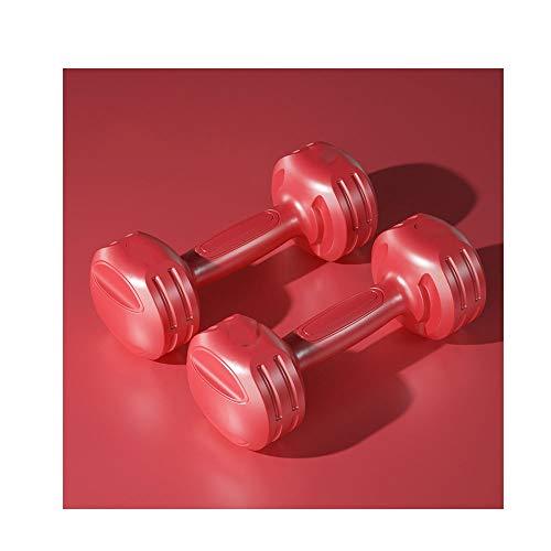 Frauen-Hantel Paar Männer Yoga Kleine Hantel Gewichtheben Fitness Home Gym Trainingsgeräte, Einzelgewicht 3kg (Farbe : Rot)
