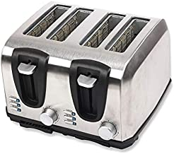Rebune Toaster - 4 Slices, 1400w - RE-5-042,Mixed Material