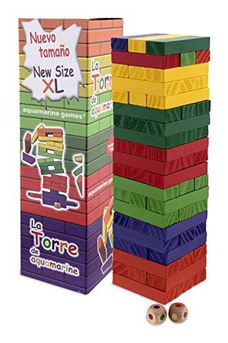Aquamarine Games - La Torre de Colores XL, Juego de Habilidad (Compudid...