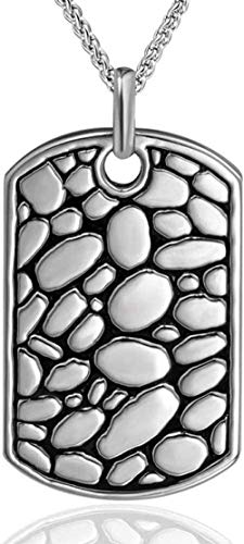 NC110 Etiqueta de Acero de Titanio Europeo y Americano diseño único dominante de adoquines Marca del ejército Collar de los Hombres Colgante de Moda